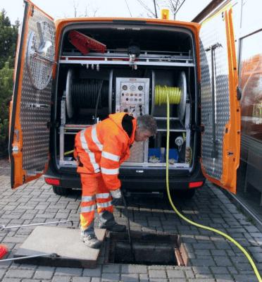 Гидродинамическая промывка ливневой канализации